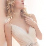 blush-hayley-paige-bridal-ball-gown-pleated-crossover-v-neck-belt-natural-waist-strap-back-1453_x3