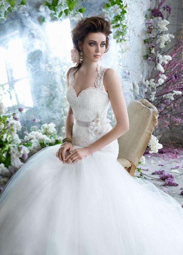 tara-keely-bridal-lace-ball-gown-elongated-keyhole-back-floral-belt ...